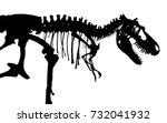 tyrannosaurus rex skeleton .... | Shutterstock .eps vector #732041932