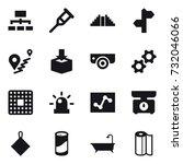 16 Vector Icon Set   Hierarchy...