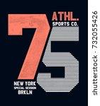 college new york  brooklyn... | Shutterstock .eps vector #732055426
