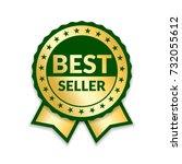 ribbon award best seller. gold... | Shutterstock .eps vector #732055612