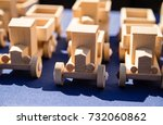 toys trucks from wood on the... | Shutterstock . vector #732060862