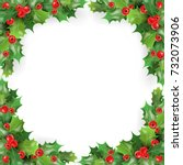 merry christmas frame with... | Shutterstock .eps vector #732073906