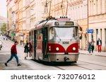 prague  czech republic  ... | Shutterstock . vector #732076012
