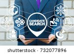 candidate search human... | Shutterstock . vector #732077896