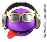 3d illustration of violet...   Shutterstock . vector #732080482
