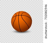 vector basketball isolated on... | Shutterstock .eps vector #732082546