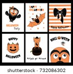 set of hand drawn templates for ... | Shutterstock .eps vector #732086302