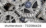 macro photo of tooth wheel... | Shutterstock . vector #732086626
