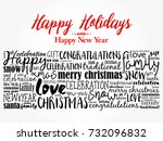 happy holidays and happy new... | Shutterstock .eps vector #732096832