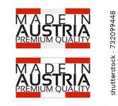 made in austria icon  premium... | Shutterstock .eps vector #732099448