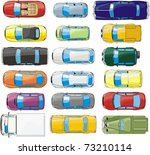 set of  top view cars | Shutterstock .eps vector #73210114