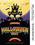 halloween invitation. vector... | Shutterstock .eps vector #732102736