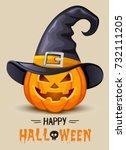 halloween invitation card  | Shutterstock .eps vector #732111205