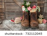 Leather Boots With Christmas...