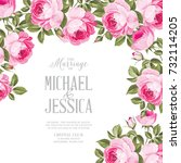marriage invitation card with... | Shutterstock .eps vector #732114205