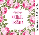marriage invitation card with... | Shutterstock .eps vector #732114226