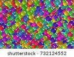 seamless abstract ultramarine... | Shutterstock . vector #732124552