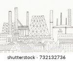 hand drawn illustration of an... | Shutterstock . vector #732132736