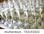 Close Up Of Many Champagne...
