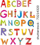 Alphabet Design In A Colorful...