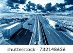 trucks and highway....   Shutterstock . vector #732148636