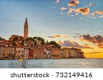 old town of rovinj croatia...   Shutterstock . vector #732149416
