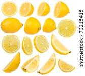 Multiple Lemon On White...