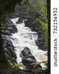 Small photo of Ragged Falls on Oxtongue river outside Algonquin Park