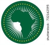 vector illustration african... | Shutterstock .eps vector #732162595
