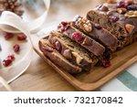 beautiful delicious homemade... | Shutterstock . vector #732170842