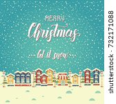 christmas background with... | Shutterstock .eps vector #732171088