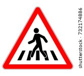 pedestrian crossing warning... | Shutterstock .eps vector #732174886