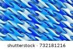 blue grid ornament. computer... | Shutterstock . vector #732181216