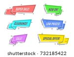 flat linear promotion sticker ... | Shutterstock .eps vector #732185422