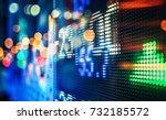 display of stock market quotes... | Shutterstock . vector #732185572