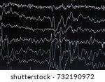 eeg electroencephalogramp... | Shutterstock . vector #732190972