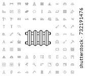 radiator icon. set of outline... | Shutterstock .eps vector #732191476