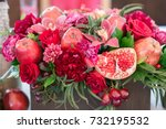 Red Flowers With Decoration An...