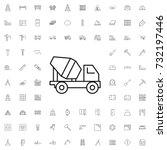 concrete mixer truck icon. set... | Shutterstock .eps vector #732197446
