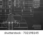 mechanical engineering drawings.... | Shutterstock .eps vector #732198145