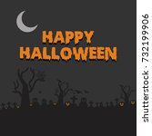 happy halloween vector... | Shutterstock .eps vector #732199906