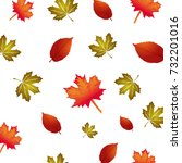 vector pattern with autumn... | Shutterstock .eps vector #732201016