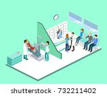 isometric 3d vector... | Shutterstock .eps vector #732211402