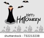 happy halloween vector... | Shutterstock .eps vector #732213238
