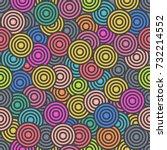 vector abstract crazy... | Shutterstock .eps vector #732214552