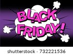 black friday. vector cartoon... | Shutterstock .eps vector #732221536