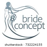 abstract bride in silhouette... | Shutterstock .eps vector #732224155