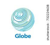 vector logo globe | Shutterstock .eps vector #732224638