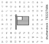 american flag icon. set of... | Shutterstock .eps vector #732227686