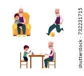 vector flat grandparents ... | Shutterstock .eps vector #732231715